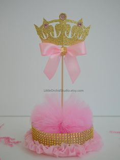 Princess Baby Shower/ Princess Birthday/ First Birthday/ Baby/ Its a girl/ Princess party/ Pink and gold/ Centerpieces/ Baby girl shower First Birthday Centerpieces, Baby Shower Centerpieces, Birthday Decorations, Baby Shower Decorations, Gold Centerpieces, Princess Centerpieces, Princess Theme, Baby Girl Princess, Baby Shower Princess