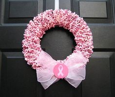 Breast Cancer Fundraising Ideas That Really Work Tons of easy, fun, and successful breast cancer fundraising ideas that allow you to simplify your group's fundraiser planning and get down to the business of raising money for charity. Breast Cancer Wreath, Breast Cancer Crafts, Breast Cancer Fundraiser, Breast Cancer Survivor, Breast Cancer Awareness, Pink Wreath, Breast Cancer Support, Craft Fairs, The Cure