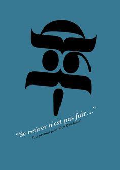 Don Quichotte Dom Quixote, Expo, Geek Art, Le Moulin, Moustache, Geek Stuff, Logos, Movie Posters, Stains
