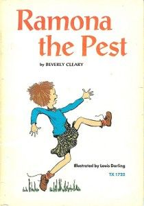 "Ramona Quimby in ""Ramona the Pest"" and other books by Beverly Cleary"