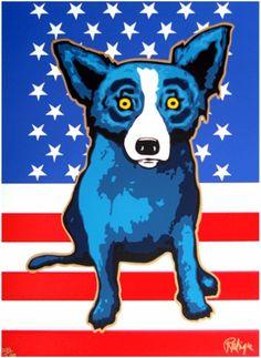 Blue Dog George Rodrigue Art for Sale