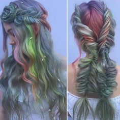 Neo Victorian hairstyle  Muted Pastels and fishtail braids by…