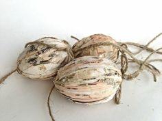décoration rustique pâques noix fil
