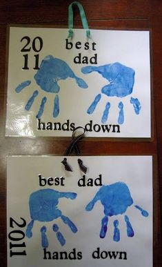 Best Dad Hands Down Tag - Father's Day Craft