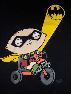 Family Guy Stewie Batman T Shirt Size Medium Black #FamilyGuy #GraphicTee