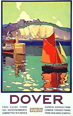 Vintage Travel Poster: The White Cliffs of Dover, England Retro Poster, Vintage Poster, Poster Ads, Advertising Poster, Vintage Travel Posters, Vintage Postcards, Vintage Ads, Poster Prints, Posters Uk