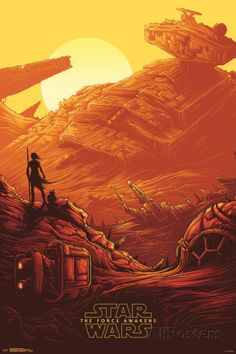 Star Wars: The Force Awakens- Starship Graveyard Pôsters na AllPosters.com.br