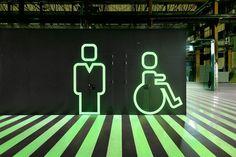 Groosman Partners / RDM Innovation Dock. Luminescent paint (Glow-in-dark)