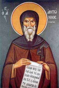 Today, with great joy, the Holy Orthodox Church commemorates Saint Anthony the Great! Anthony was an Egyptian and was born about the year Orthodox Catholic, Orthodox Christianity, Anthony The Great, Saint Antony, Greek Icons, St Anthony's, Best Icons, Byzantine Icons, Day Book