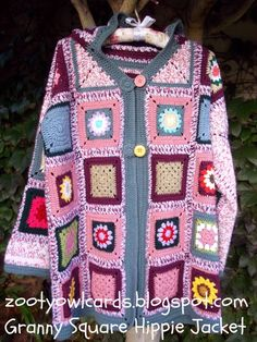 Zooty Owl's Crafty Blog: Granny Square Hippie Jacket Pattern (very good instructions - this could be made from any type of square motif)