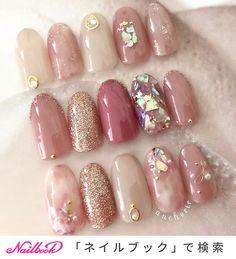 Cute Acrylic Nails, Cute Nails, Pretty Nails, Pastel Nails, Japanese Nail Design, Japanese Nail Art, Nail Art Designs Videos, Gel Nail Designs, Korea Nail Art