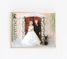 Custom Wedding Paper Portrait Illustration   Paper portraits by Brittani Rose   Unique Wedding Gift   Lovely Gift for Creative People via @brittanirose + brittanirosepaper.com