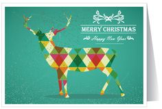 Whimsical Modern Holiday Greeting Card