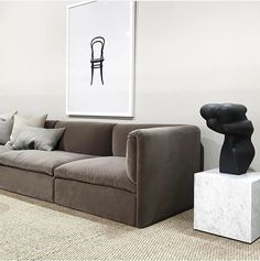 This is Jord: a modular sofa that joins Swedish and Italian design Living Room Seating, Living Room Sofa, Interior Design Living Room, Living Spaces, Design Interiors, Living Rooms, Minimalist Apartment, Minimalist Interior, Apartment Interior