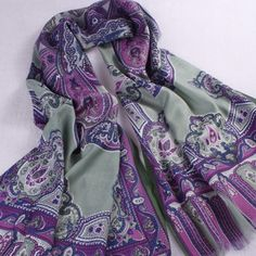 Pashmina Stoles Indian Exotic Floral Print Scarf Shawl