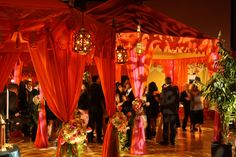 Raj Tents Moroccan Party dance floor David Tutera My Fair Wedding ballroom transformation