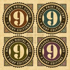 9 Surf Editions, print studio branding and marketing by 9 Surf Studios Tom White, via Behance
