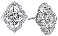 Lafonn Lotus Cutout Stud Earrings $145
