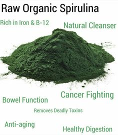 Raw organic spirulina... #superfood #algae #health Herbs For Health, Healthy Herbs, Health And Beauty, Health And Wellness, Mental Health, Healthy Eating Recipes, Healthy Foods, Food Science, Healthy Alternatives