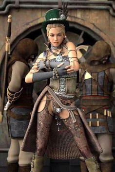 Nossa Senhora moça! A modelo mais sexy do estilo steampunk?