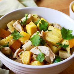 The savory heat of this sauce cuts the sweetness of the mango and pineapple, while the buttery avocado pulls the disparate flavors together.