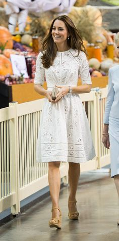 Kate Middleton White Zimmermann Dress