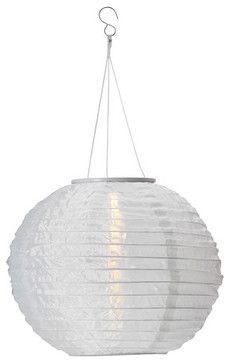 Solvinden Solar-Powered Pendant Lamp, White - modern - outdoor lighting - IKEA
