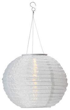 Solvinden Solar-Powered Pendant Lamp, White - modern - outdoor lighting - IKEA
