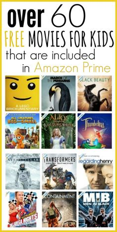 A complete list of school lunch ideas for kids!) Read more for quick and easy ideas on what to pack for lunch for preschool or daycare. Amazon Prime Kids Movies, Free Kids Movies, Best Kid Movies, Movies For Boys, Amazon Movies, Netflix Movies To Watch, Movie To Watch List, Good Movies To Watch, Netflix Kids