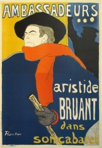 This vintage poster, 'Les Ambassadeurs: Aristide Bruant', by French artist Henri de Toulouse-Lautrec is one of his most famous works. It'll be on display at an original vintage poster selling exhibition at ION Art Gallery in Singapore from Nov 24 - Dec 1.