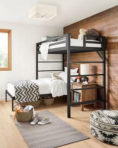 Modern Kids Furniture, Modern Kids Bedroom, Modern Bunk Beds, Kids Bedroom Furniture, Girls Bedroom, Bedroom Decor, Boys Shared Bedroom Ideas, Modern Loft, Childrens Bedroom Ideas
