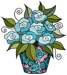 ArtbyJean - Paper Crafts: Flowers in Bunches - CRAFTY CLIP ART: Set A-05