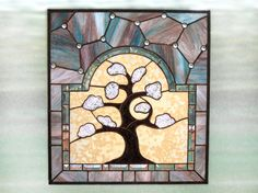 Stained Glass Window Tree of Life Handmade by FleetingStillness, $1500.00