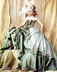 John Galliano Haute Couture S/S 2006, 'No Rules Brittania' by Mario Testino for Vogue UK May 2006