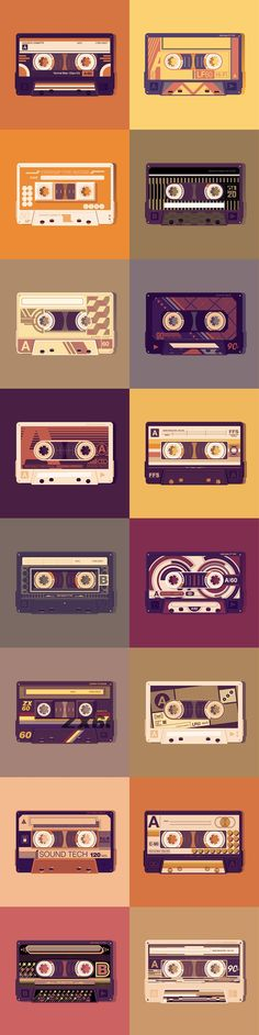 Old School vector tapes