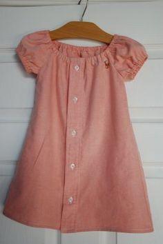 Cool idea: Little girl's dress from dad's shirt   Sewing   CraftGossip.com