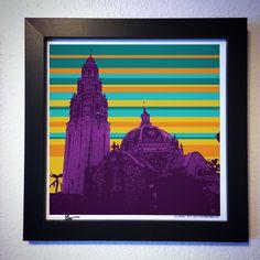 "Gallery: Pop series ""sunset at Balboa Park"" (2015) 12 x 12 inch, digital art- Giclee print on enhanced matte paper with glass framed. Stain black, 14 x 14 inch. Signed by Jon Savage --------------------------------------- #art #artist #popart #popartist #digitalart #contemporary #contemporaryart #cmyk #sandiegomuseumofmam #balboapark #sandiego #california #sunset #purple #jonsavagegallery"
