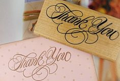 Creative Thank You Wooden Stamp