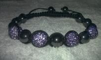 Purple Adjustable Shamballa/Macrame Bracelet