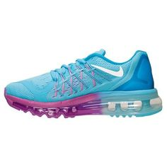 36ae10391d0 Nike Air Max 2015 (GS) Womans Shoes Clearwater White Blue Fuschia Flash  705458 400