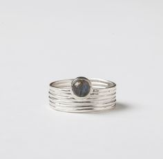 Image of Labradorite Moonrise Ring