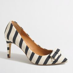 Factory Isabelle printed bow pumps : Pumps & Heels | J.Crew Factory