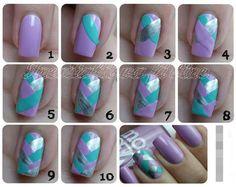 Howto two toned nails #blue #nailart #polish #nails - bellashoot.com
