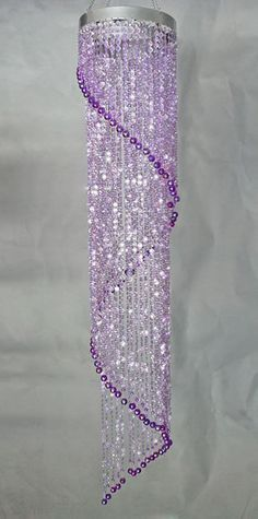 This richly toned chandelier is designed in a gentle spiral of sparkly diamond cut purple beads. The top is 8 inches in diameter. Shades Of Purple, Pink Purple, Lilac, Purple Love, Lavender, Beaded Chandelier, Modern Chandelier, Purple Chandelier, Chandeliers