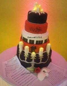 Phantom of the Opera cake By CakeswLove on CakeCentral.com