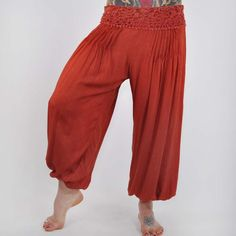 Enhance your boho style with the exotic elegance of our solid Harmony harem pants. After seeing stylish women rocking fabulous harem pants like these literally everywhere we travel, once the Mexicali ladies tried them on, we understood why! Accented by a gorgeous wide waistband with crochet accents, these gorgeous 100% rayon hippie pants are crazy comfortable and ready to rock any adventure you can come up with. The elastic-hemmed legs can be worn low on the ankles or pushed up high for a…