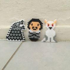 I made some Game of thrones Hama beads characters inspired from pinterest!