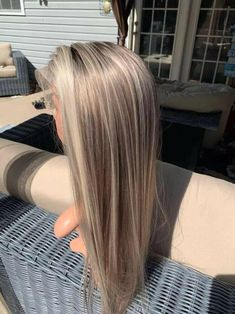 Ash Blonde Hair With Highlights, Blonde Hair Looks, Hair Color Balayage, Blonde Balayage, Full Highlights, Baby Blonde Hair, Platinum Highlights, Light Hair, Wig Hairstyles