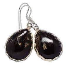 """Golden Seraphinite 925 Sterling Silver Earrings 1 3/4"""" EARR330981"""