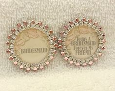 Bridesmaid Pin Gift Wedding Party Jewelry by PegsEmbellishedGifts